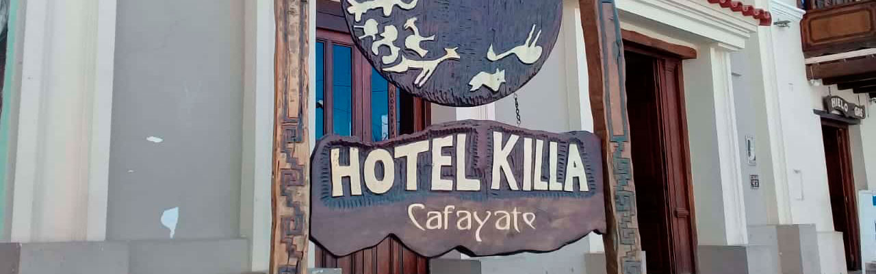 Entrance of the Hotel Killa Cafayate in Salta, Argentina